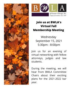 BWLA Virtual Fall Membership Meeting