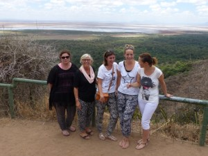 Maggie and The Sprong Family in Lake Manyara