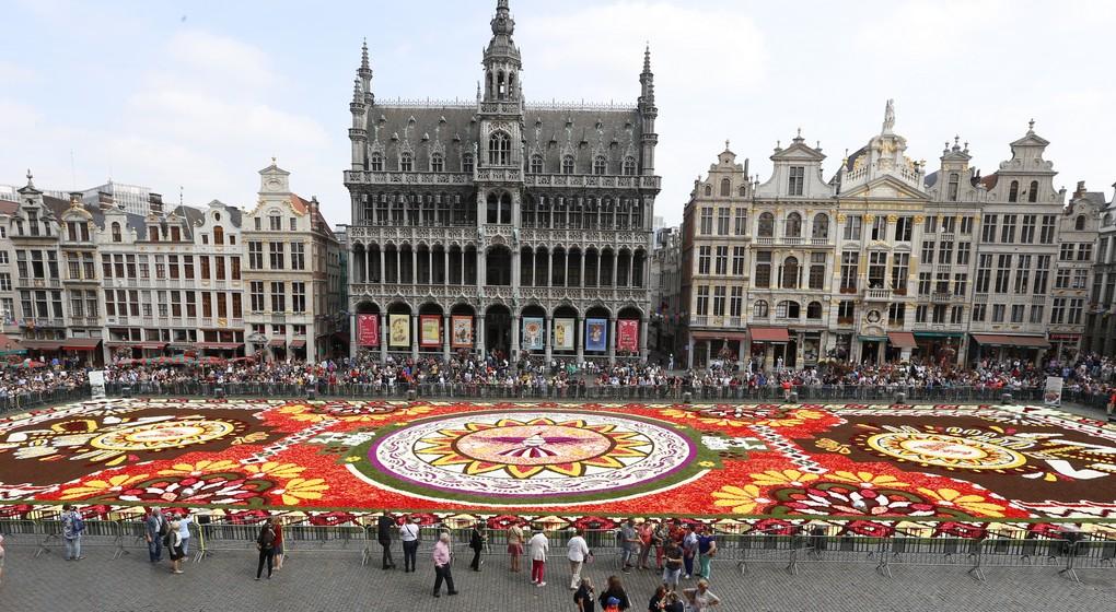 tapis de fleurs de la grand place