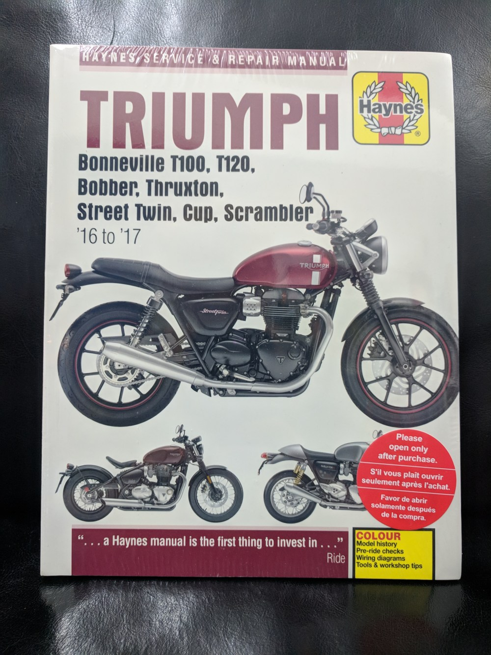 medium resolution of fix it yourself with a haynes manual triumph