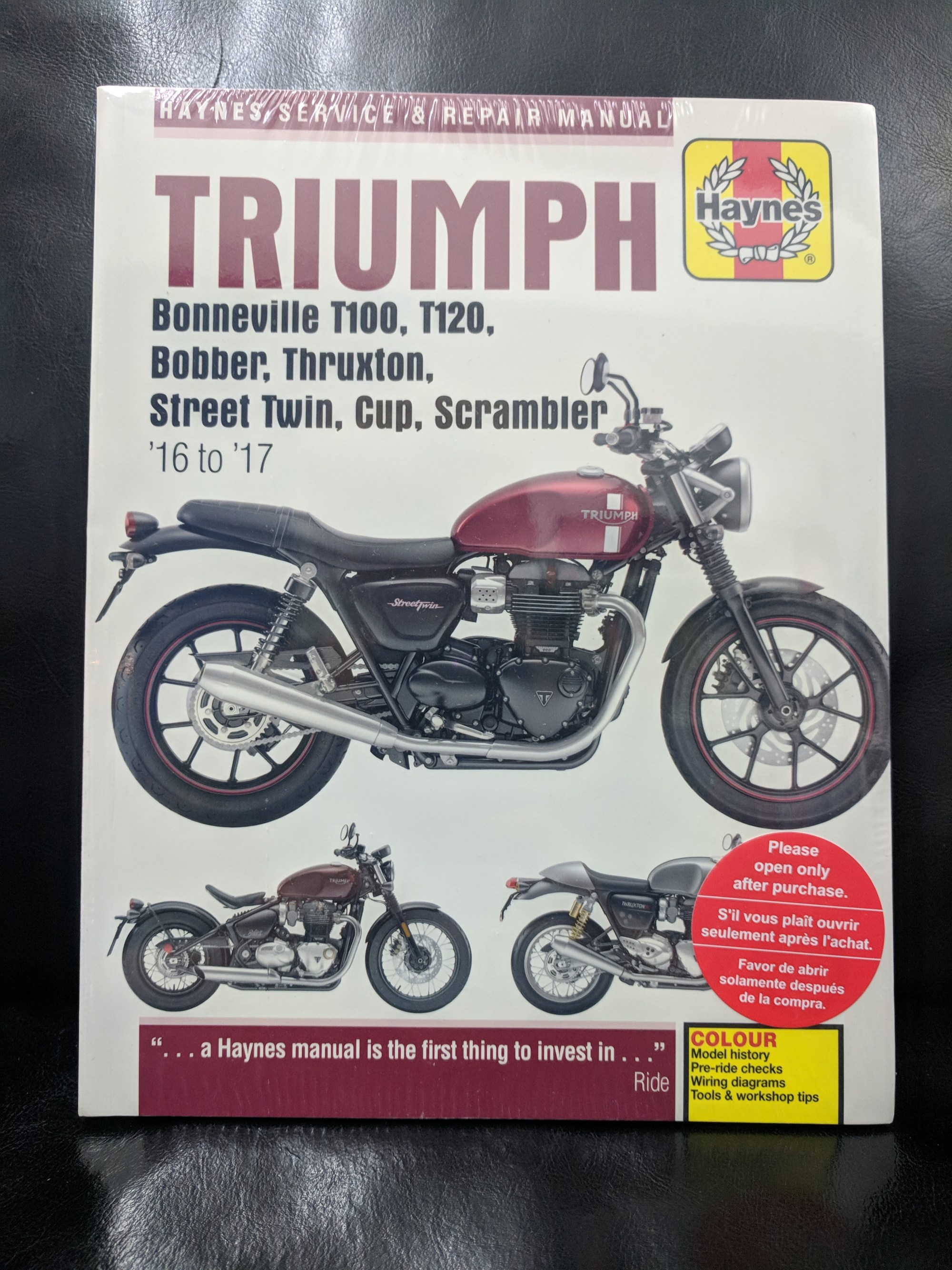 hight resolution of fix it yourself with a haynes manual triumph
