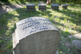 Maggie Walker headstone, Evergreen Cemetery, Richmond, VA, April 23, 2014, Photo by BXP