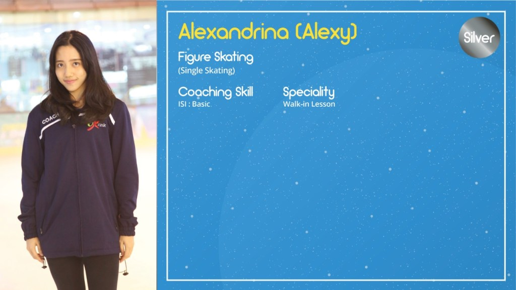 Alexandrina Alexy, BX Rink Ice Skating Coach