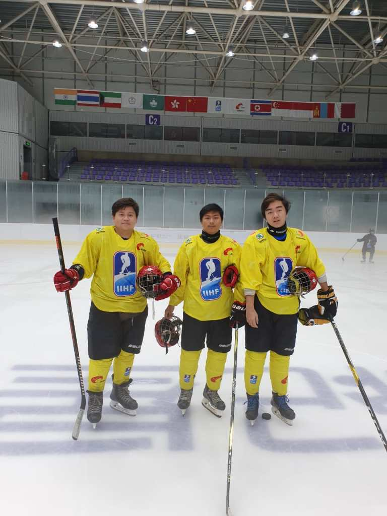 Tim Hoki Es Indonesia FHEI di 2019 IIHF CIHA Asian Mens Summer Camp Beijing China - 1