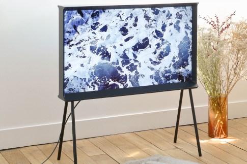 TV trompe l'oeil Samsung * Bouroullec Serif TV