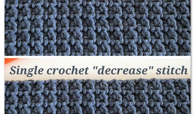 The Stitch Of The Week 2 Single Crochet Decrease Stitch Bykaterina