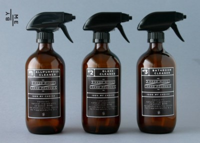 26614a64c58a 500 mL Amber Glass Spray Bottles (3 Pack Set) with Black Designer Decals |  by-me.com.au