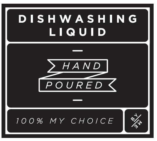 ByMe Dishwashing waterproof label