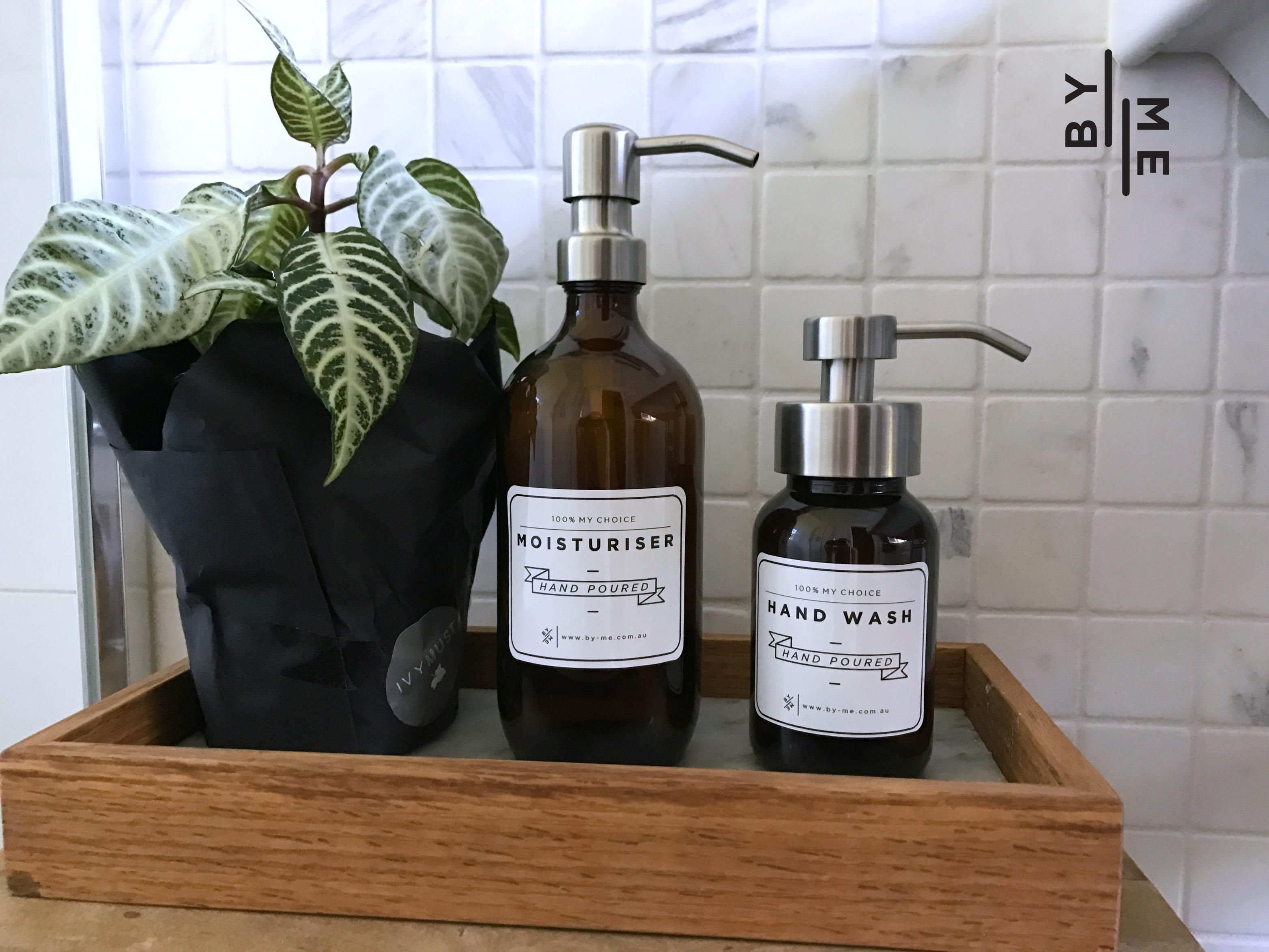 glass soap pumps