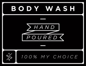 Mini Black Body Wash Decal