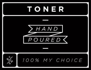 Mini Black Toner Decal