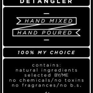 Medium Black Hair Detangler Decal