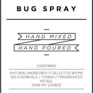 Medium White Bug Spray Decal