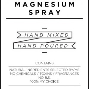 Medium White Magnesium Spray Decal