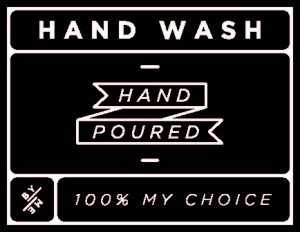 Mini Black Hand Wash Decal