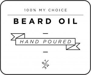 Mini White Beard Oil Decal