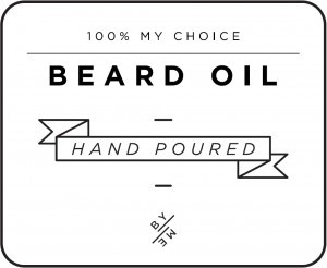 Mini White Beard Oil Decal