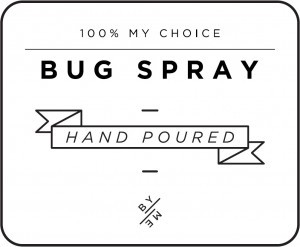 Mini White Bug Spray Decal
