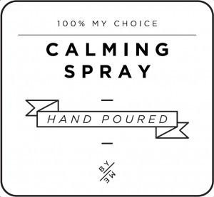 Mini White Calming Spray Decal