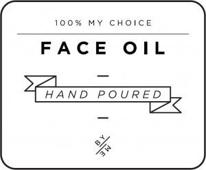 Mini White Face Oil Decal