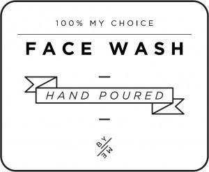 Mini White Face Wash Decal
