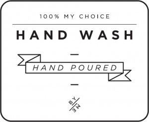 Mini White Hand Wash Decal