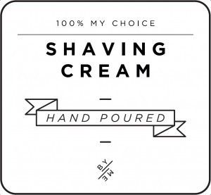 Mini White Shaving Cream Decal