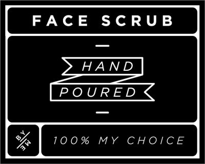 Small Black Face Scrub Decal