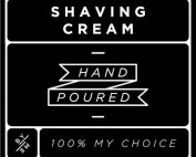 Small Black Shaving Cream Decal