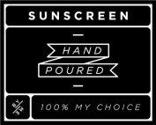 Small Black Sunscreen Decal