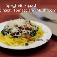 Spaghetti Squash Recipe Spinach, Tomato and Mushroom