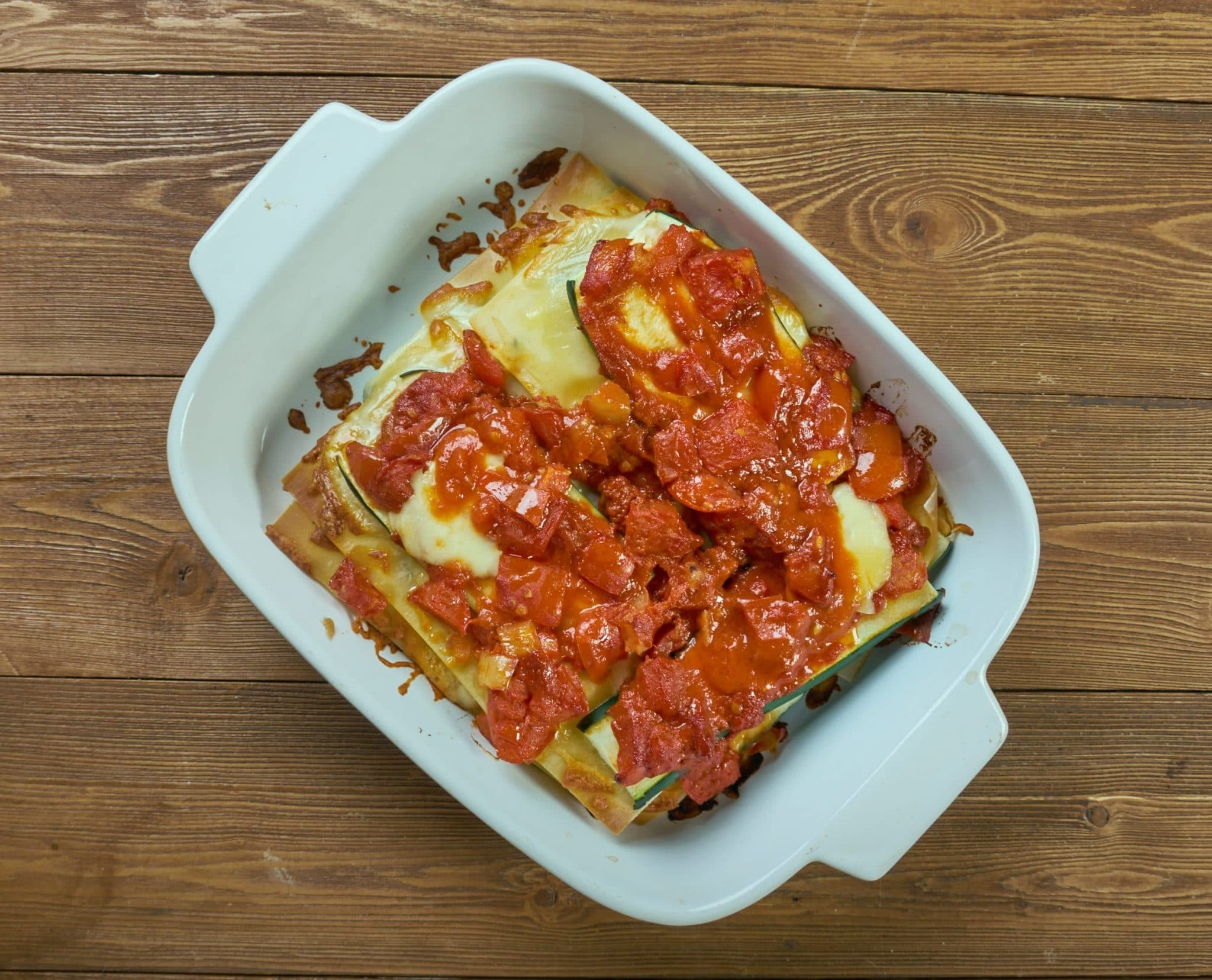 top view of Zucchini Lasagna recipe