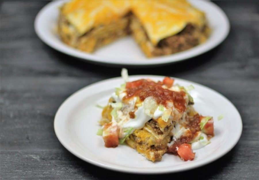Instant Pot Taco Pie, by Pink