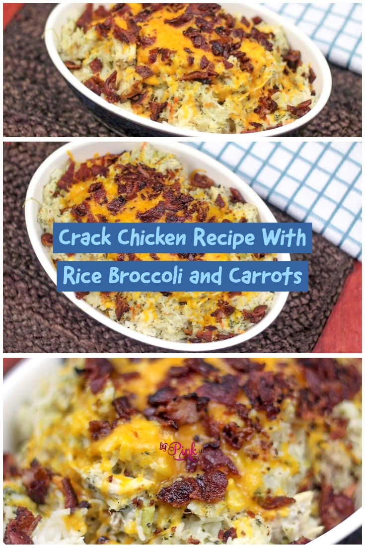 Crack Chicken Recipe With Rice Broccoli and Carrots For Instant Pottastesgreat and takes just 30 minutes to make! #carrots #broccoli #vegetables #garlic #vegetable #rice #chicken #ranch