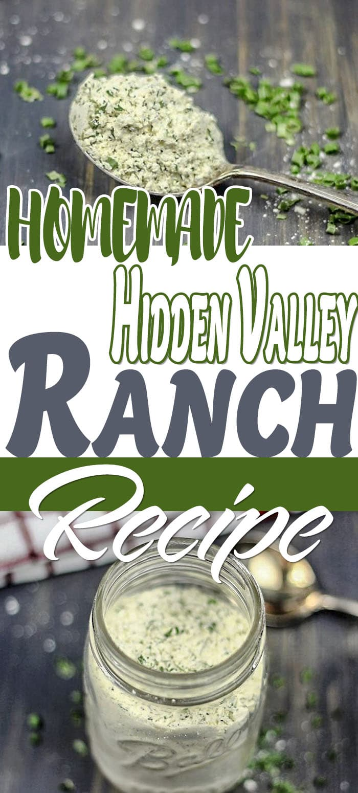 Skip store-bought Hidden Valley Ranch packet and make homemade ranch seasoning recipe. Make this hidden valley ranch recipe with spices you already have. #instantpot #crackenchicken #chickenrecipes #chicken #ranch