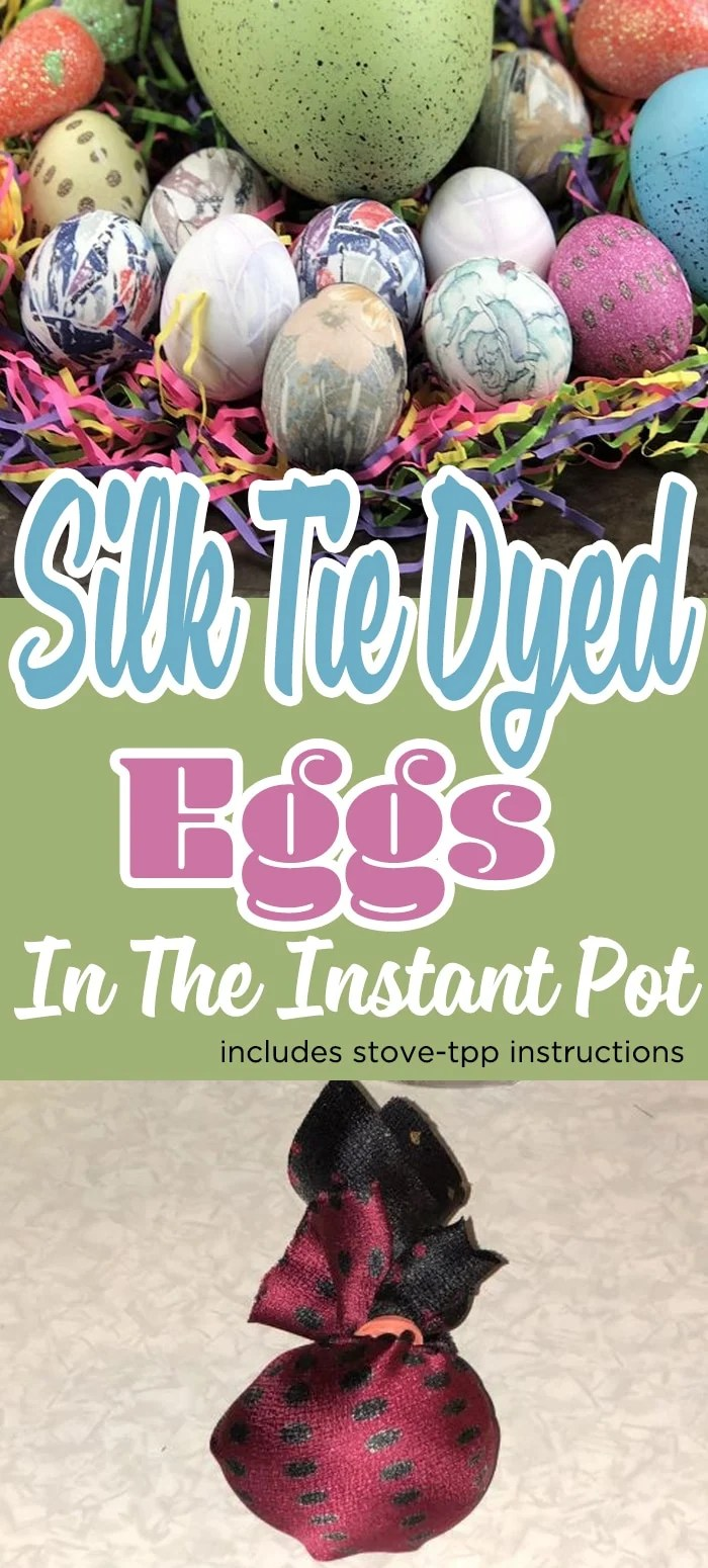 Silk Dyed Eggs In The Instant Pot (Dying Easter Eggs in Your Instant Pot) #eggs #easter #eastereggs #eastercrafts #holiday