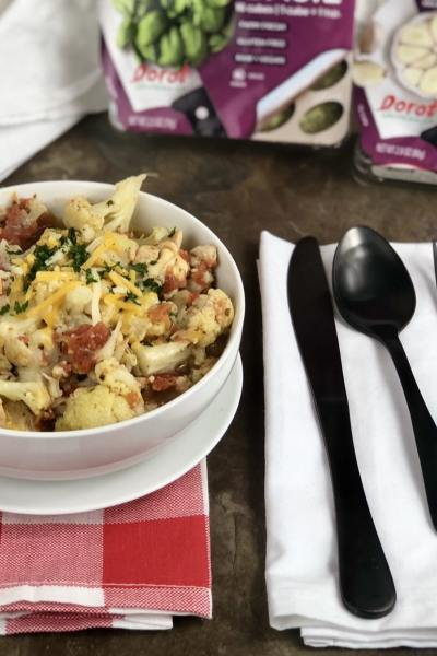 This Instant Pot Keto Cauliflower Chicken & Herbs is perfect for anyone who is looking for a flavorful dish while watching their carb intake. This meal is a breeze to whip up in your Instant Pot and is great for using the leftovers to take for lunches during the week to work. You have some colby jack cheese, a variety of herbs that really help add some great flavor to this keto dish. Your whole family will be asking for seconds on this hearty and healthy dish.