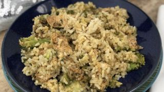 Creamy Air Fryer Chicken Broccoli Rice