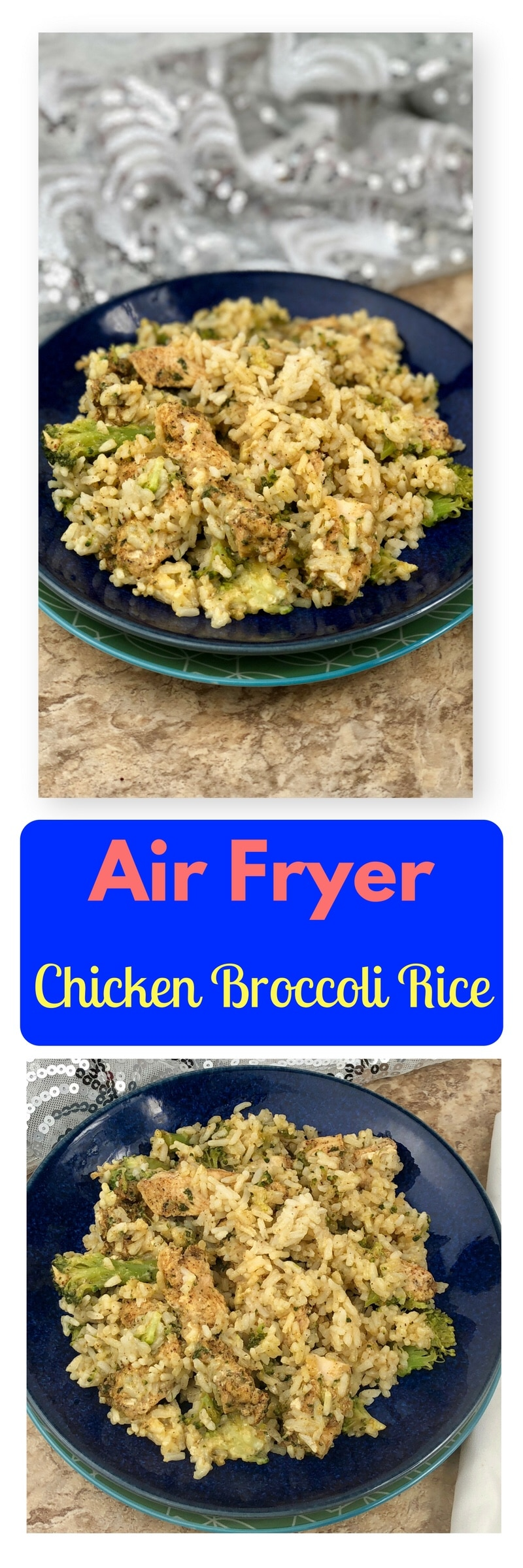 Let me welcome you all to one of my favorite Air Fryer dishes. This creamy Creamy Air Fryer Chicken Broccoli Rice is a very simple recipe to make that creates a single serve dish. You create that all-in-one healthy dinner in foil packets that are rich in flavor and will leave your family feeling satisfied. If you serve the chicken broccoli rice in the packets, there is a lot less cleanup afterward! The chicken is nice and juicy from the foil sealing in the moisture as it cooks, it truly is a blue ribbon winning dish.