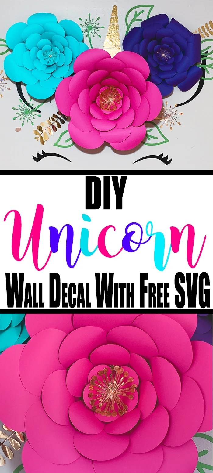 Our unicorn decor is a win for you because I am going to give you the unicorn svg cut file. This unicorn wall decal is the best you will find. #unicorn #walldecal