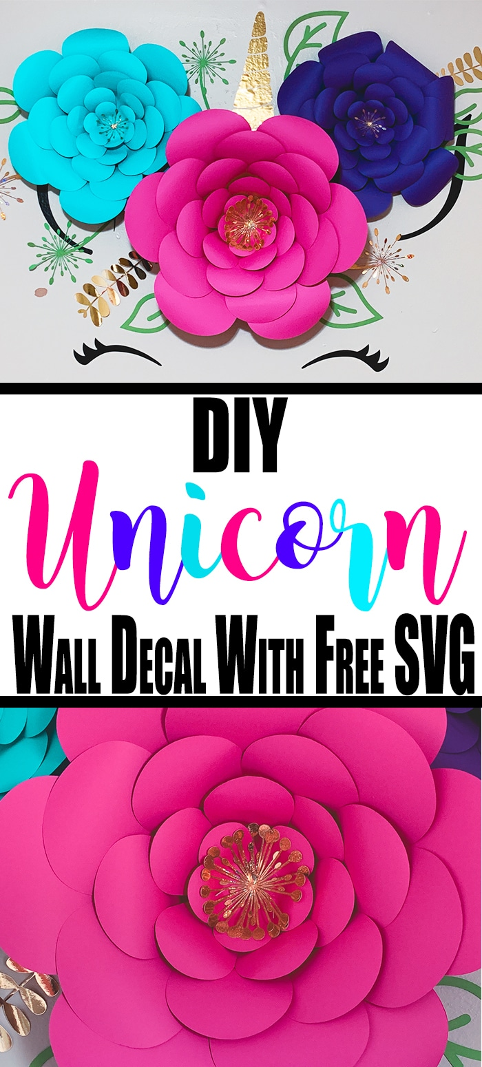 Our unicorn decor is a win for you because I am going to give you the unicorn svgcut file. This unicorn wall decal is the best you will find. #unicorn #walldecal #cricutmade #cricutcraft