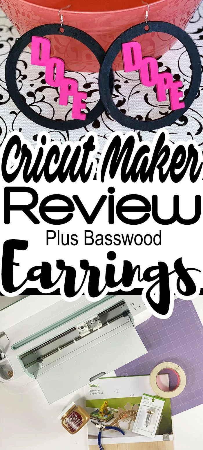 How To Cut Wood Earrings With Your Knife Blade #cricutmade #cricutmaker #cricut #cricutprojects