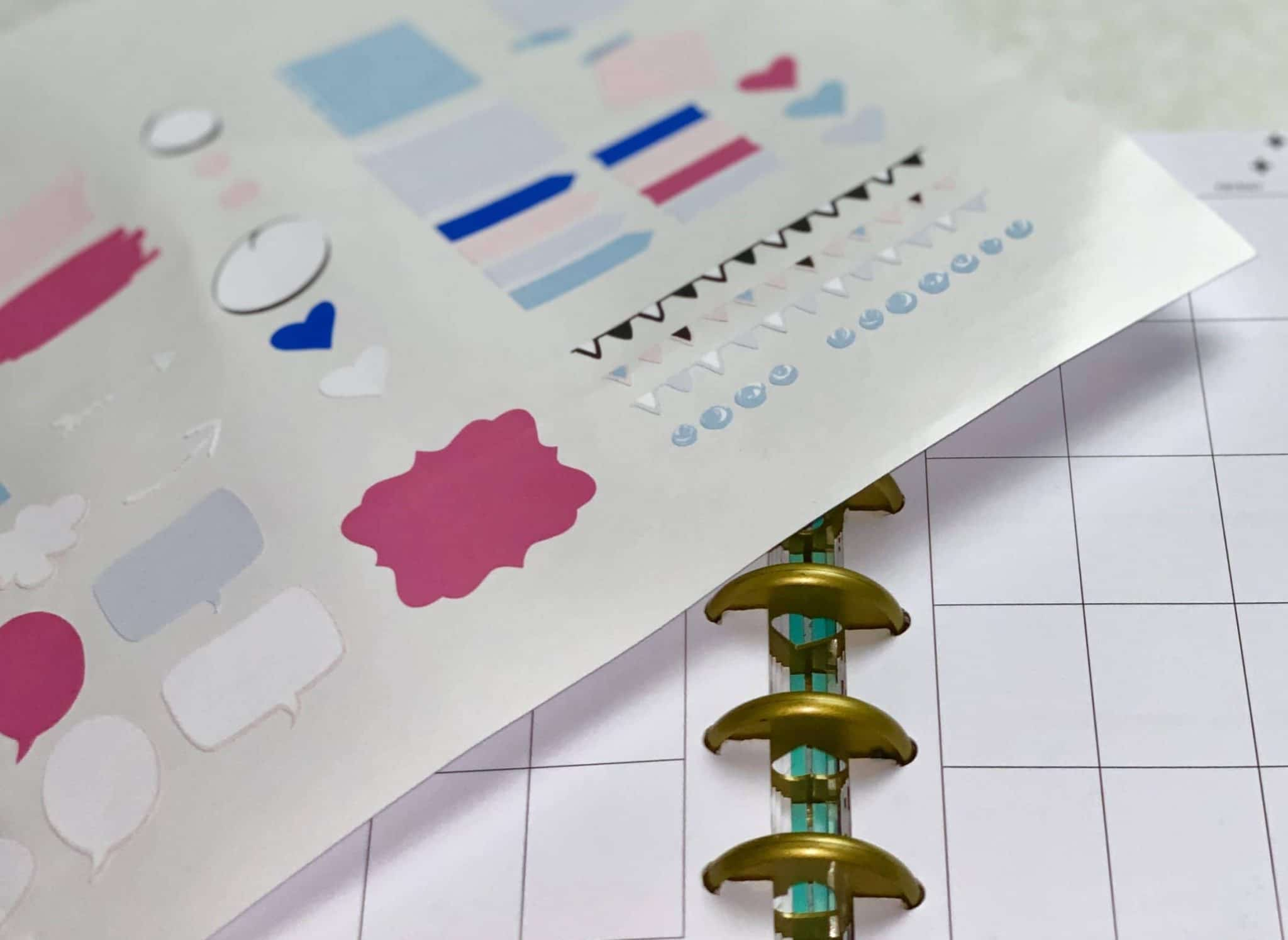 I have some awesome free printable planner stickers that you can print then cut and are great for any type of custom planning. #cricutmade #cricut #plannerstickers #freeprintable
