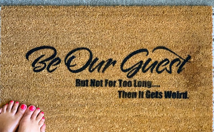 Be Our Guest DIY Doormat