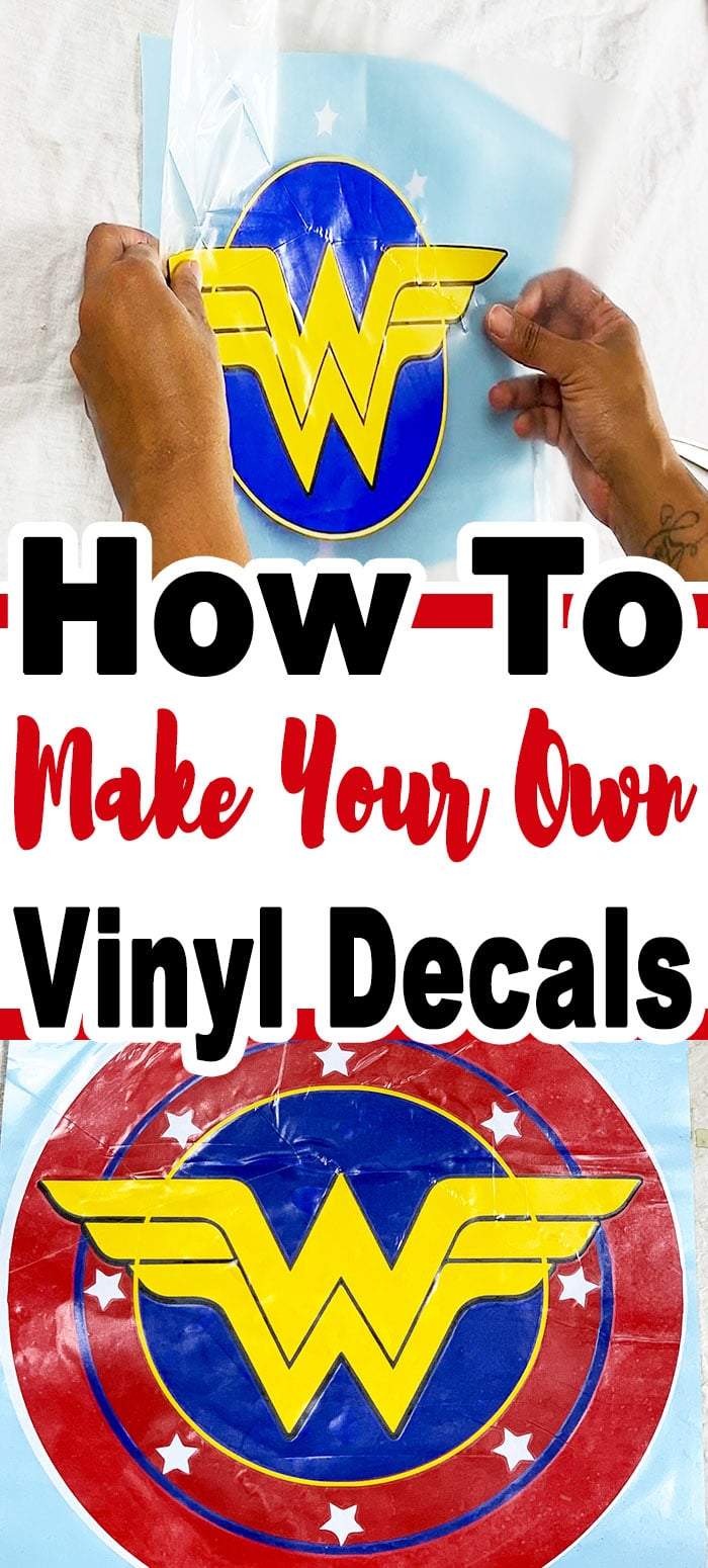 Learn how to make your own decals by layering Vinyl. It's so super simple you won't believe that you made them using your Cricut machine. #cricutmade #vinylcraft