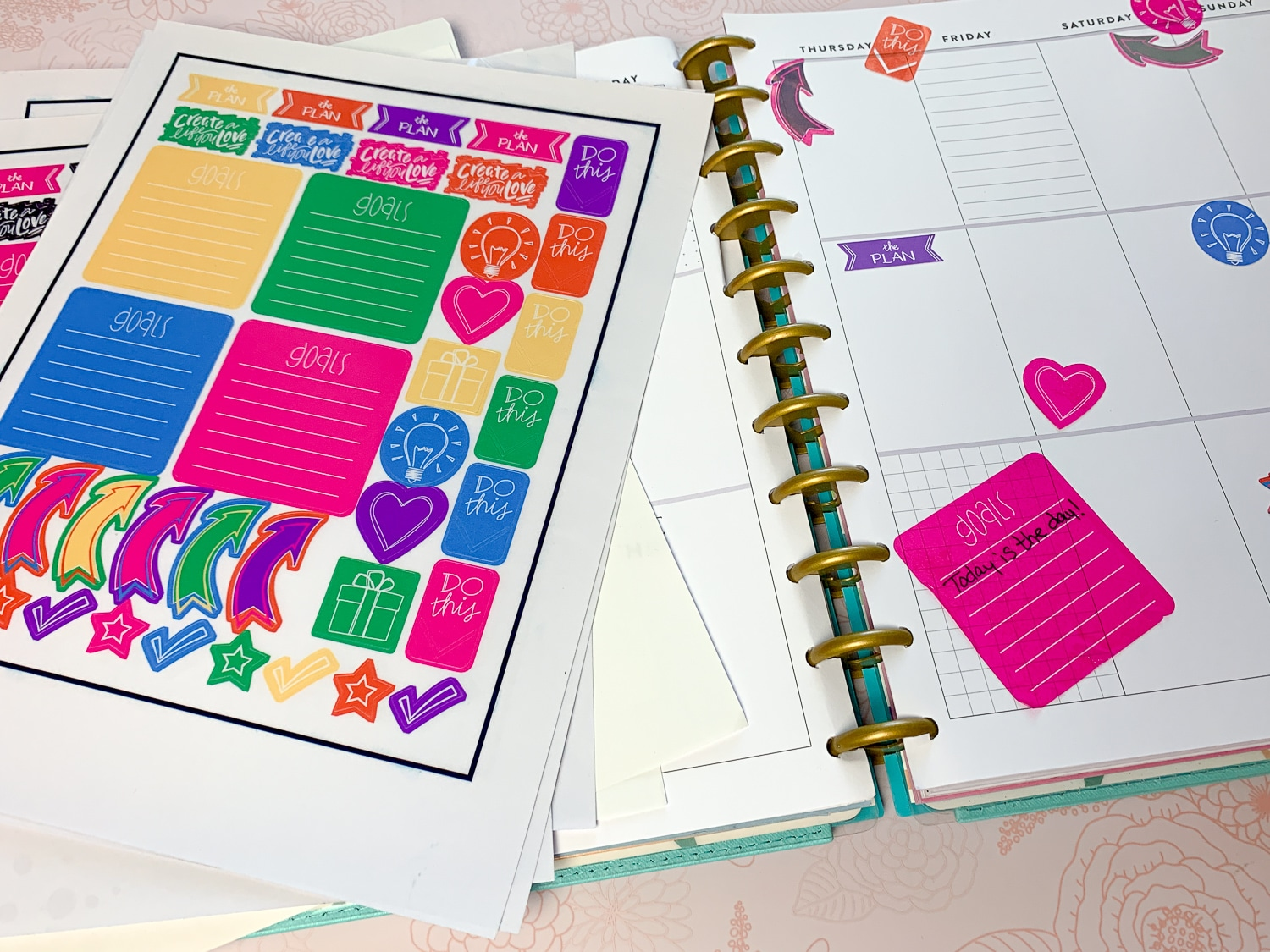 picture regarding Happy Planner Free Printable Stickers named No cost Printable Planner Stickers Getting Cricut Attain ⋆ by means of Crimson