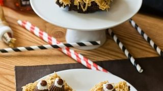 Monster Brownies with Reese's {Cute Halloween Party Recipe}