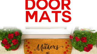DIY Personalized Door Mats - Made on a Cricut!