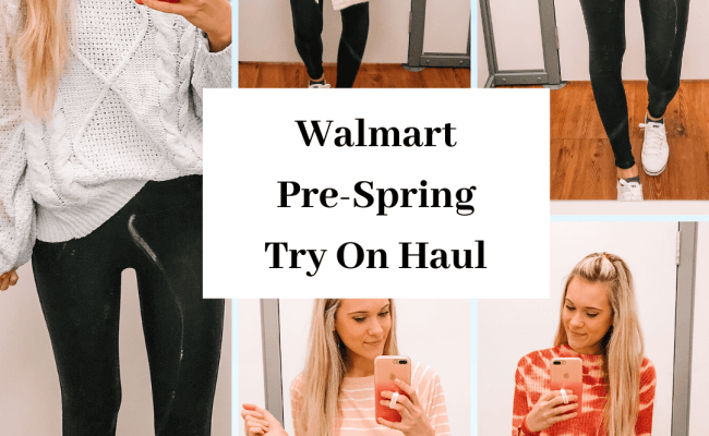 Walmart Pre Spring Try On Haul Shop With Me Walmart