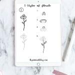 5 Styles Of Floral Doodles Free Printable Worksheet By Amanda Kay